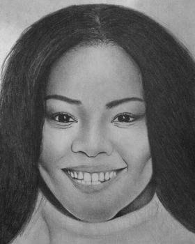 Gabrielle Union Portrait Practice  by Honeycomb1011