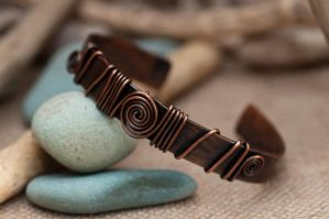 Copper Bangle by starpixiecreations