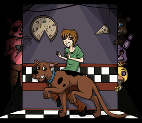 ScoobyDoo and Five Nights at Freddy by Rej-kun