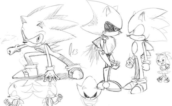 Sonic sketches by Kewing