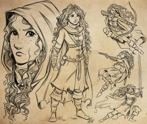 Laume McGregor Character Design Study by FlatAsABird