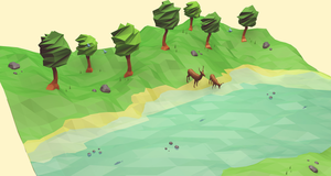 Down River (Low Poly) by error-23