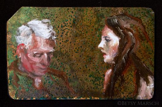 Copper Metrocard Painting 6 by Paintsmudger