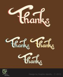 Thanks Hand Lettering Vector by GraphicIdentity
