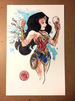 Wonder Woman loves Ice Cream by mikemaihack