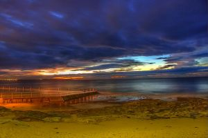 Dawn colours at the rock pools by Kounelli1