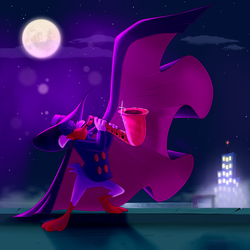 Darkwing playing the sax by sapphireweasel25