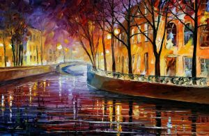 Misty Melody by Leonid Afremov by Leonidafremov