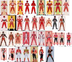 Red Ranger Collage (updated) by AdrenalineRush1996
