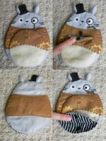 Steampunk Totoro Pouch by Pandannabelle