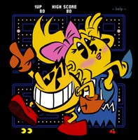 Pac-Man and Ms. Pac-Man by EeyorbStudios
