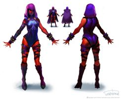 Raven-frontbackcolor by marconelor