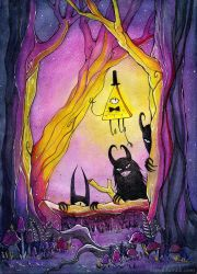 Gravity Falls - Forest by MaryIL