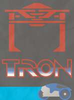 Vintage-Style Tron Poster by WolfTron