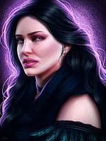 Yennefer of Vengerberg fan art by ElyGraphic