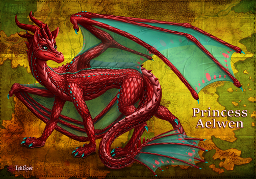 Princess Aelwen: Dragon Form by InkRose98