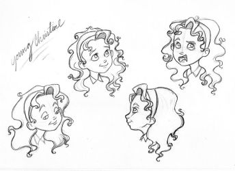 Young Christine Sketches by bananaboo2