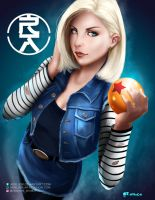 Android 18 by aerlixir