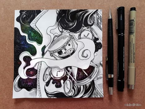 .Inktober Day 13 - Time by iLDS