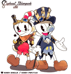 Cuphead on Steampunk style! by Kirby-Popstar