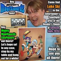 Mighty MagiSwords artist Luke Ski at GenCon Indy by artbylukeski
