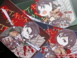 Shingeki no Kyojin Card Sticker Set by yulit