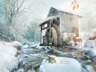Mill in winter by SoulcolorsArt