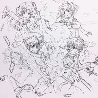 INKTOBER :: Day 20, SAO and CCS by xmelonhippo