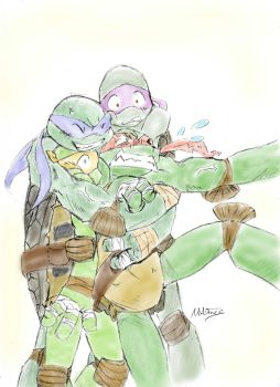 TMNT - Leo Hugs by DoodleDumble
