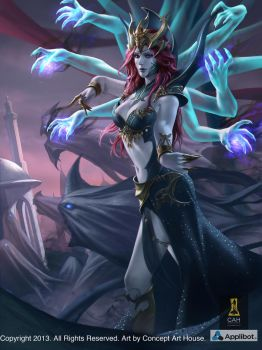 Female Magician Advanced by Concept-Art-House