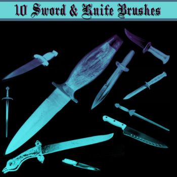 Knife and Sword Brushes by dollieflesh-stock