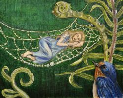 Thumbelina Sleeps by Sidhe-Etain