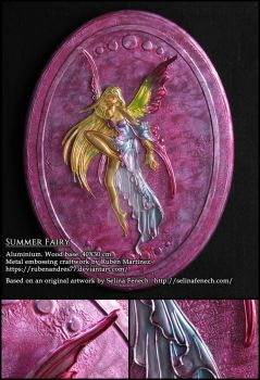 Summer Fairy - metal emboss by Rubenandres77