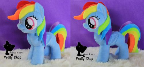 Rainbow Dash Filly for sale on ebay by WollyShop