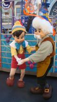 Geppetto and Pinocchio by dreamer20k