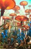 Mushroom Landscape - (Prophets of the Ghost Ants) by m0zch0ps