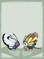 Butterfree and  Beautifly