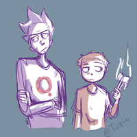 Rick and Morty Doodle by Tiizio