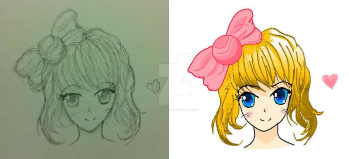 Girl Drawing by xX-Fantasia