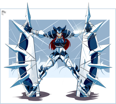 Erza Adamantine Armor by GREAT-DUDE