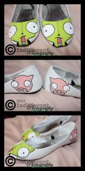 Shoes - Invader Zim 'GIR' - Filled In by IndifferentPhotos