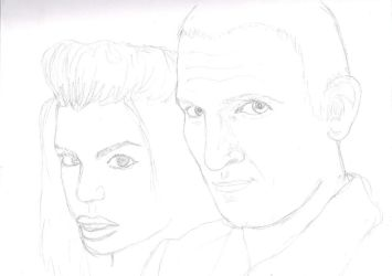 Rose and 9th Doctor WIP by beautiful-eclectic