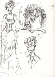 JSMN: character sketches 3 by Agatha-Macpie