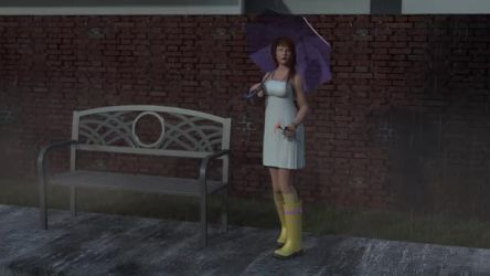 Cosette in the Rain - Dynamic Still