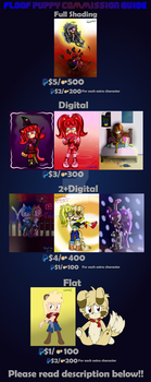 Commission Price Guide (OPEN!) by FloofPuppy-64