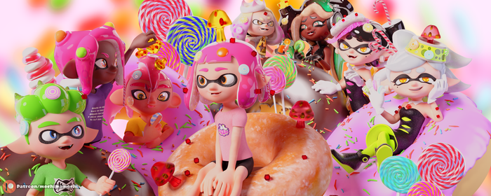 .:Render:. Sweet Candies V2 Now with Squids by MoiraMicole