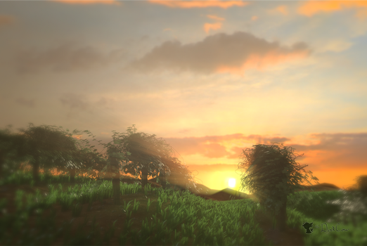 Golden Vineyard Hour by TheDuckCow