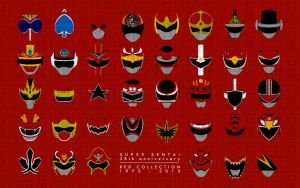 Super Sentai 38th Anniverary Red Collection by CalicoStonewolf