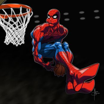 Spider-Man as Aaron Gordon by MBorkowski