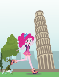 Pinkie and the Leaning tower of Pisa by EninejCompany